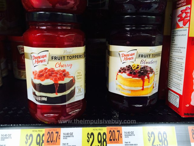 Duncan Hines Fruit Toppers (Cherry and Blueberry)