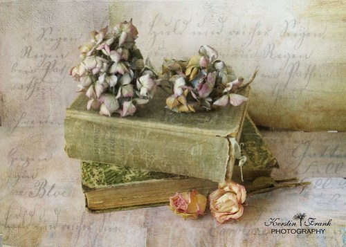 .. books and flowers ..