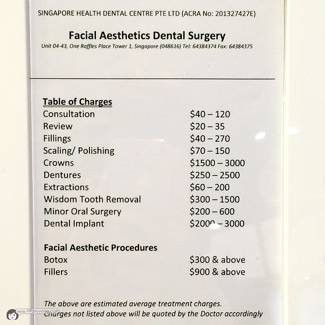 FADentalSurgery Pricing