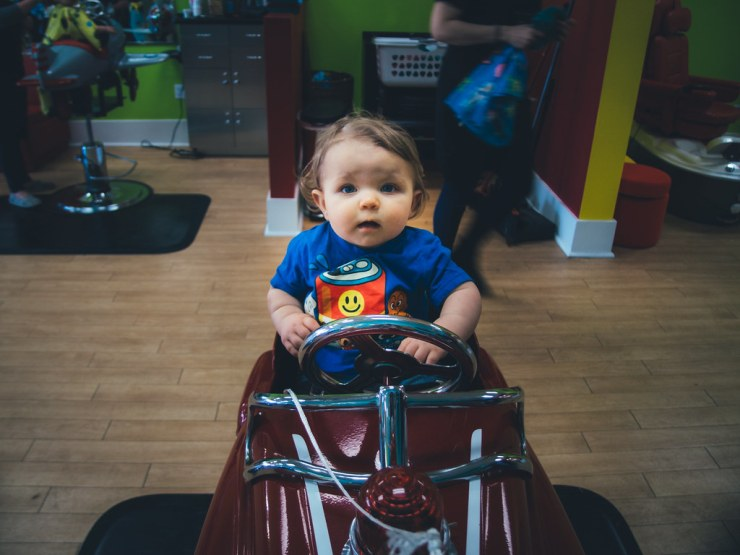 Ezra's First Haircut