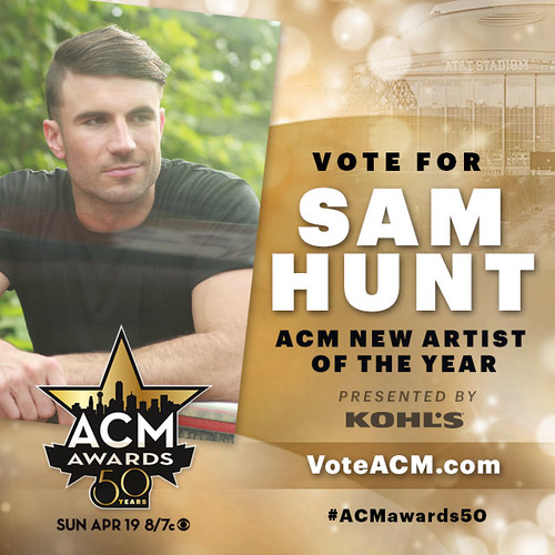 ACM Awards Square - Sam Hunt