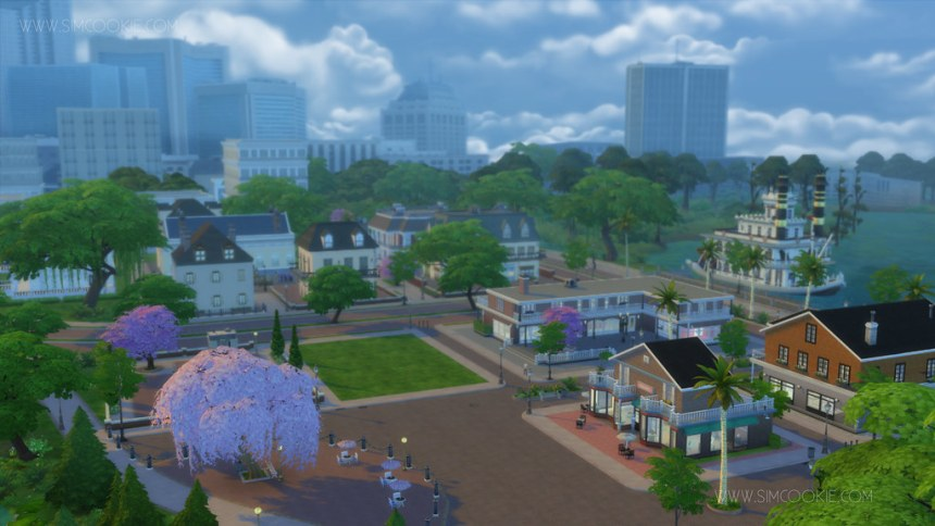 Les Sims 4 au travail Magnolia Promenade