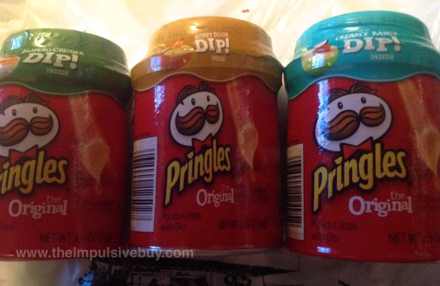 Pringles Dips! (Jalapeno Cheddar, Honey Dijon, and Creamy Ranch)