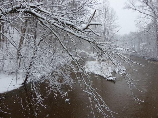 Snowy Gunpowder River at Corbett Rd.