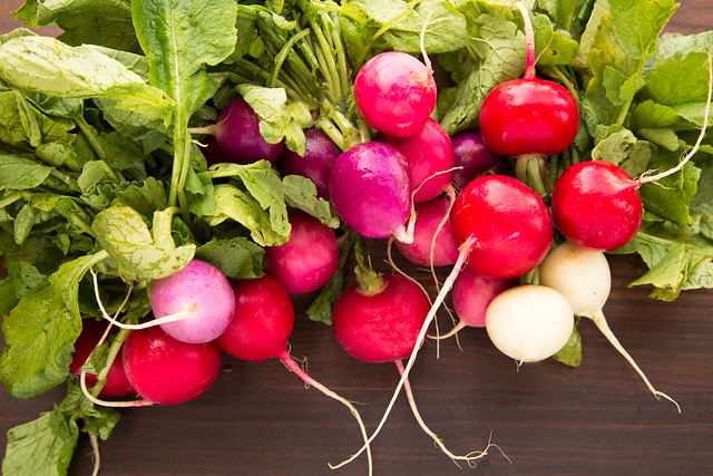 easter egg radish bunches