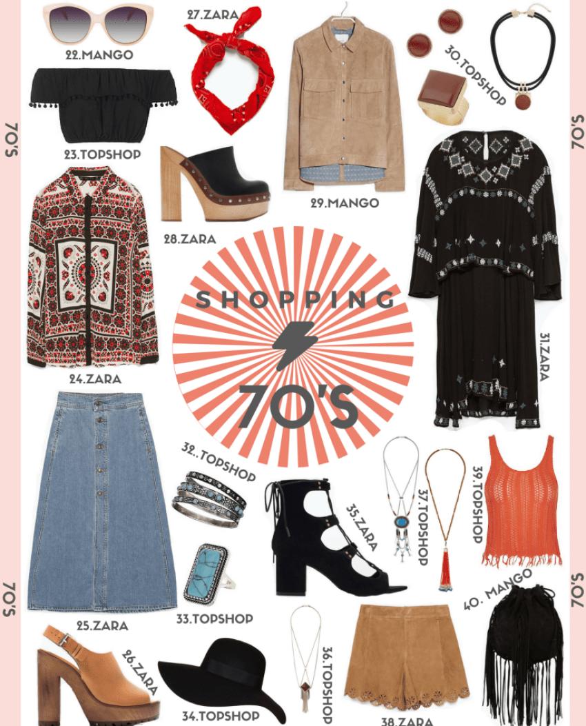 shopping años 70