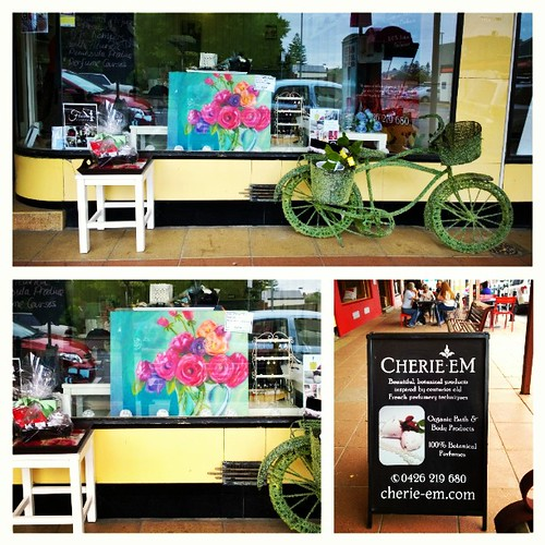 Found my painting displayed at Cherie Em, a French perfumery shop along Jetty Road in Brighton. Very exciting to see it in such a lovely shop. :) <3