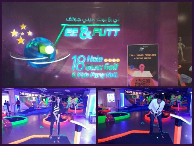 Slice of Dubai at Tee and Putt Mini golf
