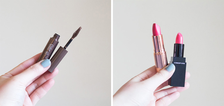 Gone Beauty Shopping Brow Tint and Lipstick