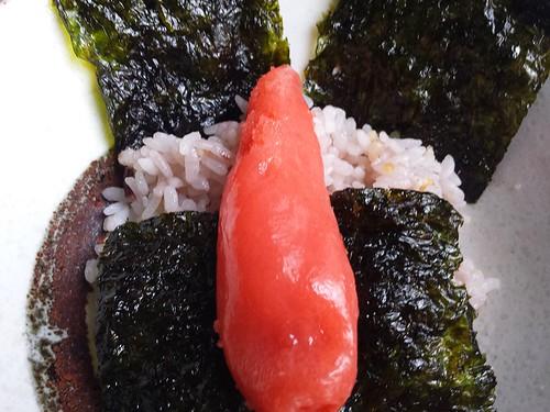 明太子ご飯、韓国海苔付き