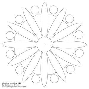 Mandala template 25