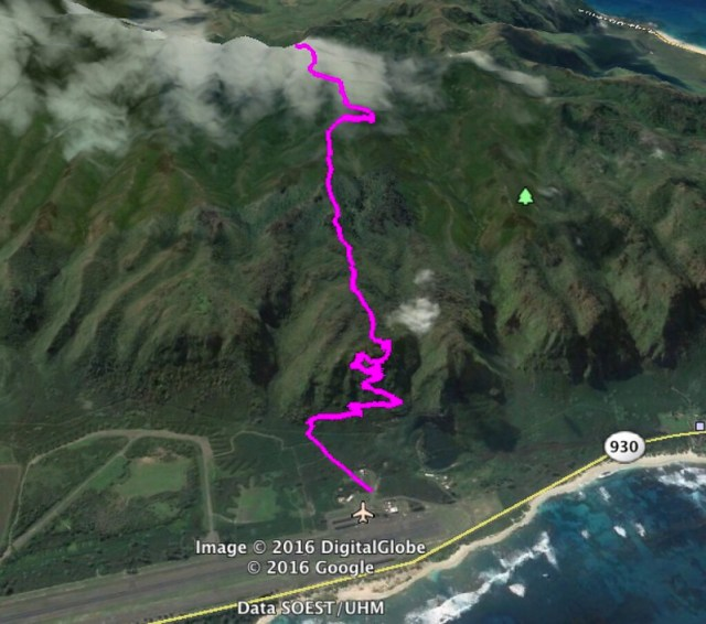 Kealia Trail Google Earth Map
