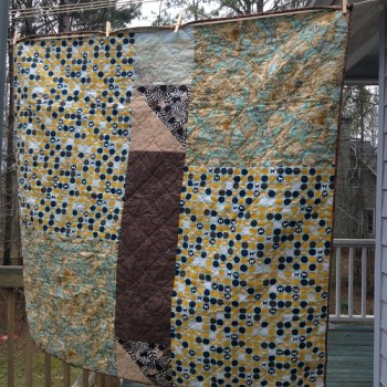 Scrappy Animal Baby Quilt- back