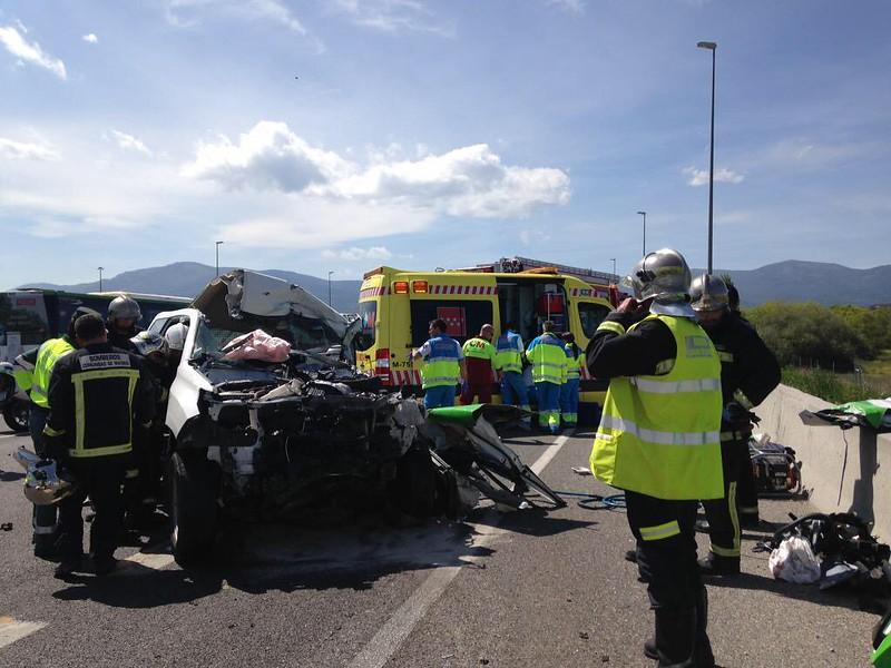 Accidente A6 23 abril 2015