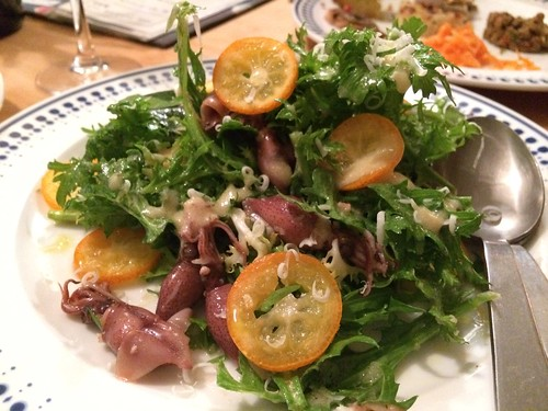 ホタルイカとわさび菜のサラダ@ジッカ Jicca