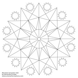 Mandala template 24