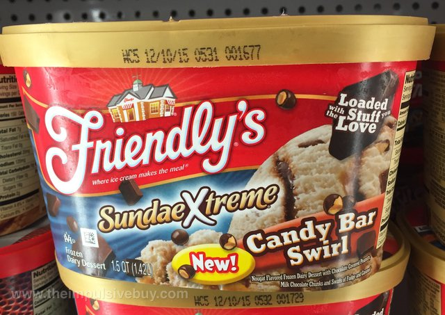 Friendly's Sundae Xtreme Candy Bar Swirl