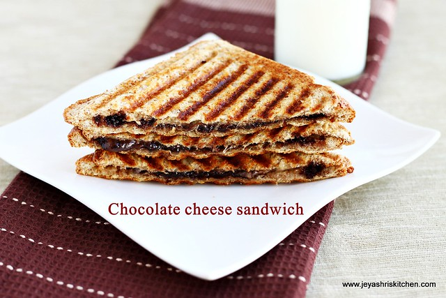 chocolate-cheese sandwich