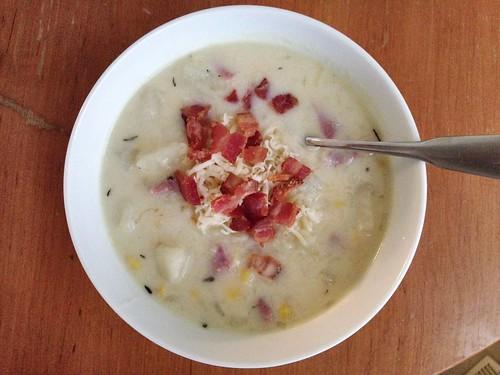 ham, potato, and corn chowder