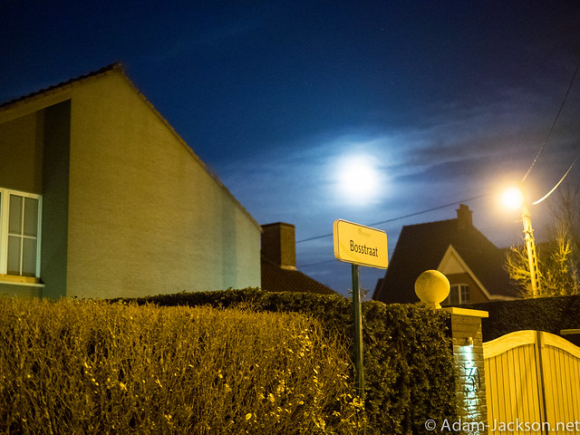 Night time in Vichte Belgium