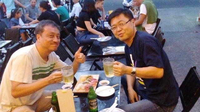 eating sushi with Morisako at Sushi Ko