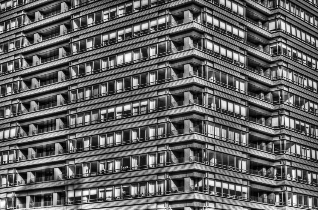 Imagen gratis de un edificio con muchas ventanas