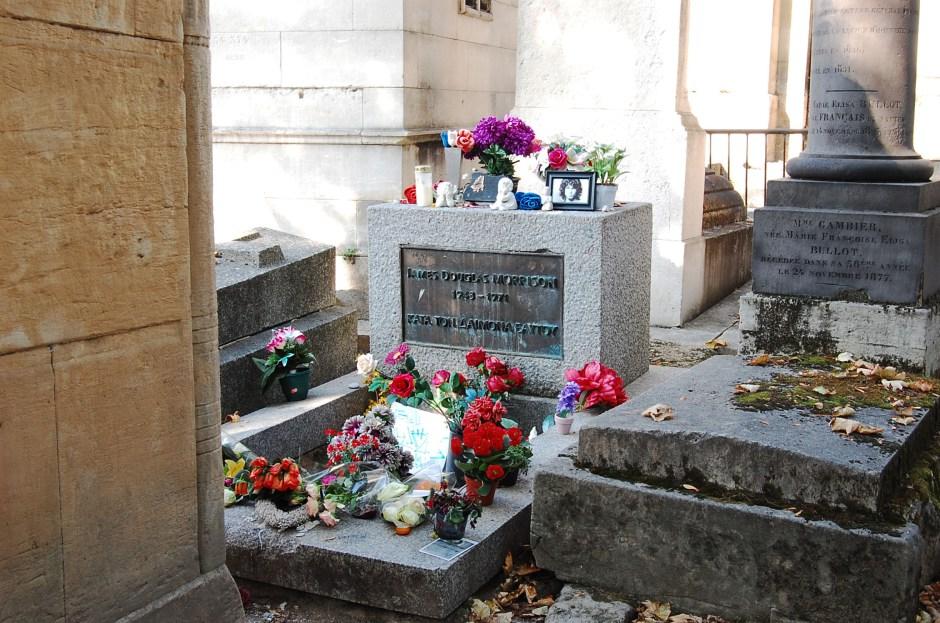 Jim Morrison's grave in Paris
