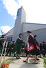 """University of Hawaii Regent Coralie Chun Matayoshi congratulates a UH West Oahu graduate at the spring 2016 commencement on May 7, 2016. Photo by Brian Miyamoto  More photos:  <a href=""""https://www.flickr.com/photos/uhwestoahu/albums/72157665878073153"""">www.flickr.com/photos/uhwestoahu/albums/72157665878073153</a>"""