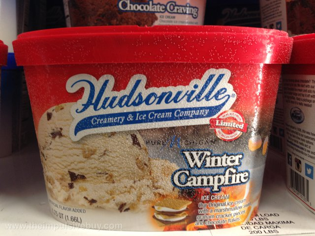 Hudsonville Limited Edition Pure Michigan Winter Campfire Ice Cream