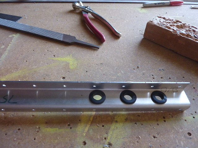 Cable holes and grommets