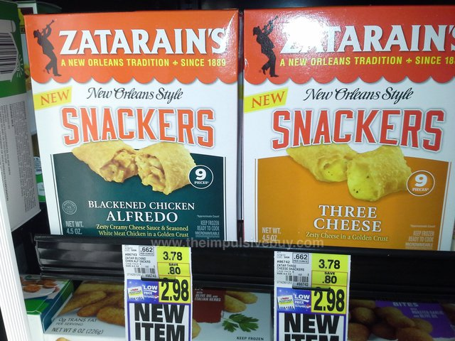Zatarain's New Orleans Style Snackers (Blackened Chicken Alfredo and Three Chees)