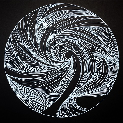 Spiral line drawings