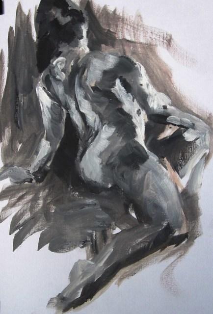 15 mins, oil paint, 08/03/2015