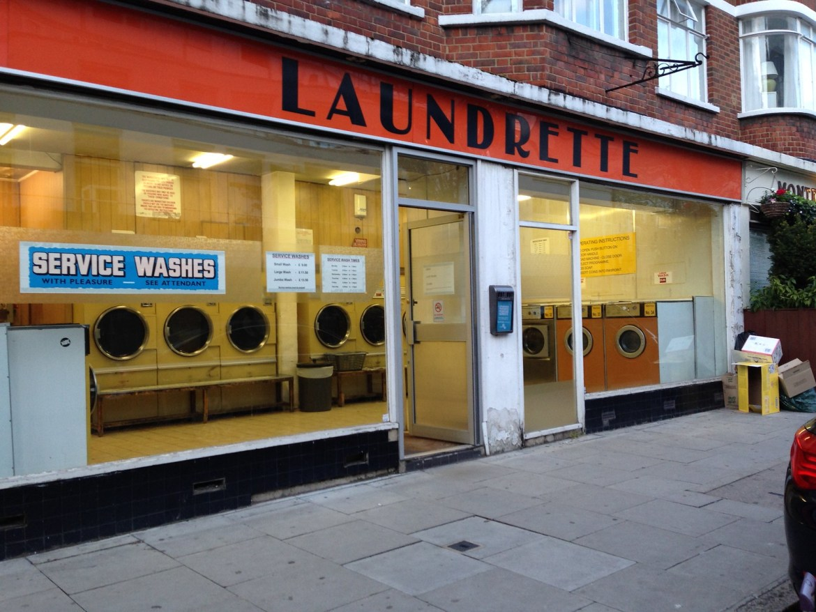 Coin Laundry in london at Fitzroy Street