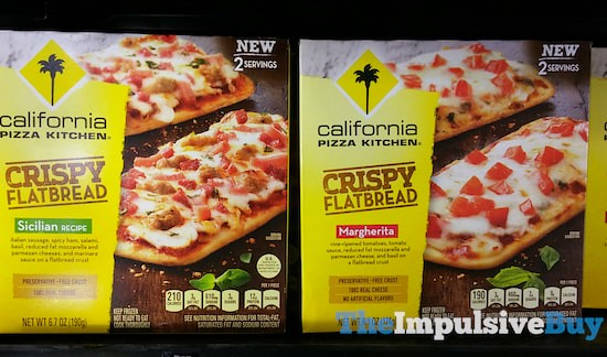 California Pizza Kitchen Crispy Flatbread (Sicilian and Margherita)