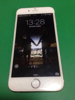 110_iPhone6のフロントパネル液晶割れ