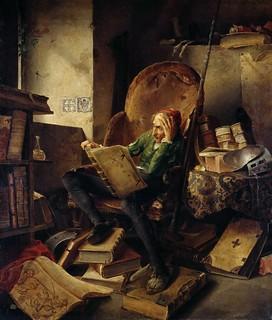 Adolf Schrodter Schwedt - Don Quixote Seated in an Armchair