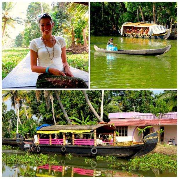 Barcos recorrer backwaters Kerala