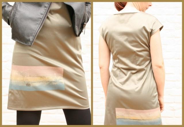 harlequin dress (collage back)