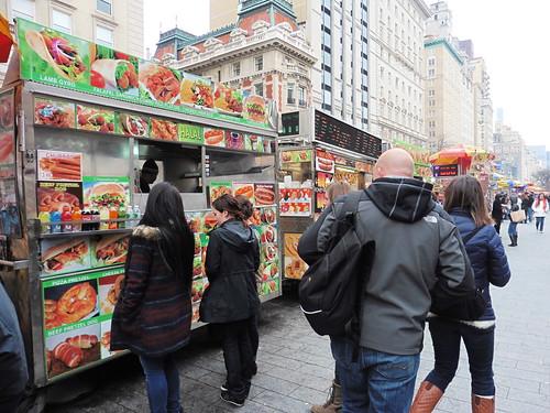 Dónde comer y gastronomía en Nueva York: Pizza en Puestos Callejeros.