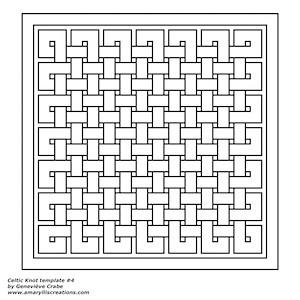 Celtic knot template 4