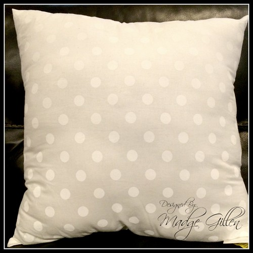 White DIY Pillow