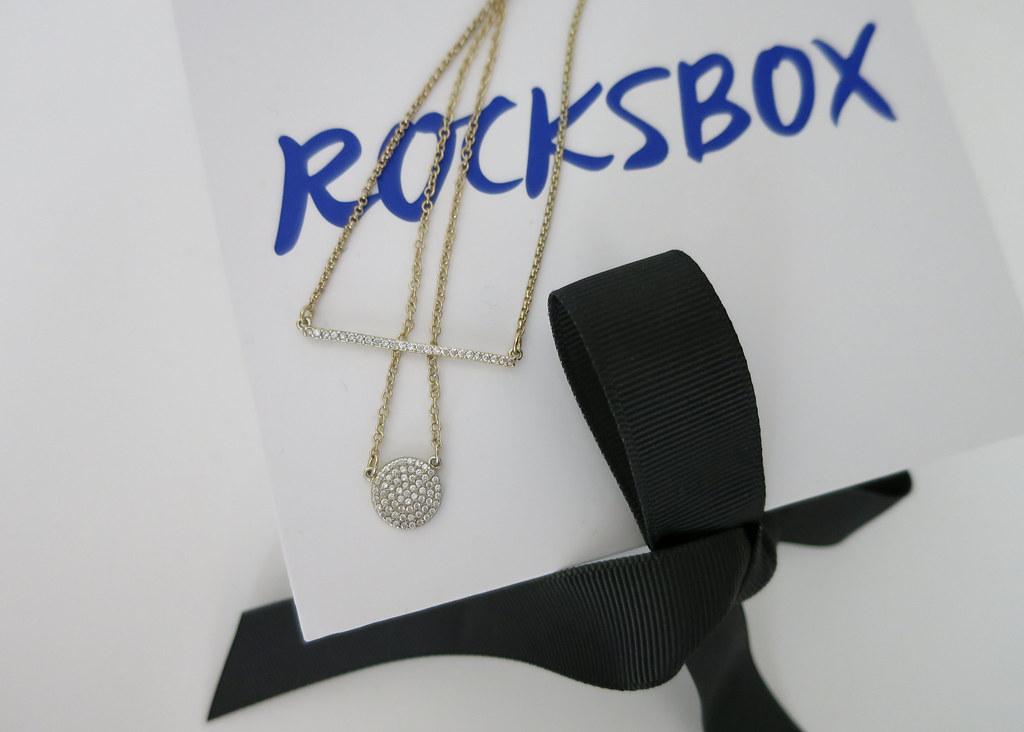 Sophie Harper Pave Bar Circle Necklaces gold Rocksbox