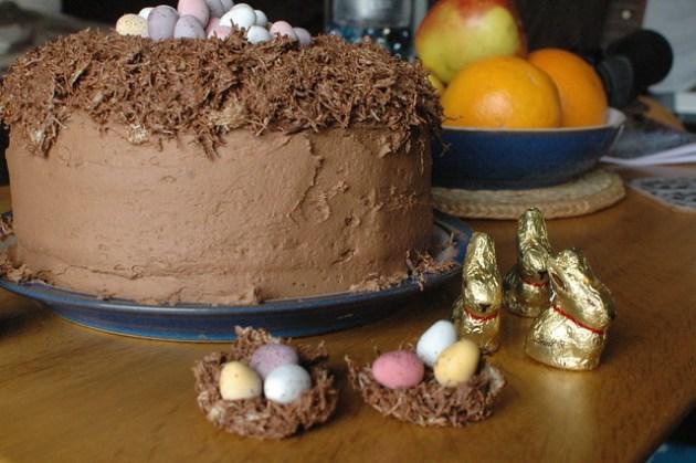 Chocolate Carrot Cake Nest