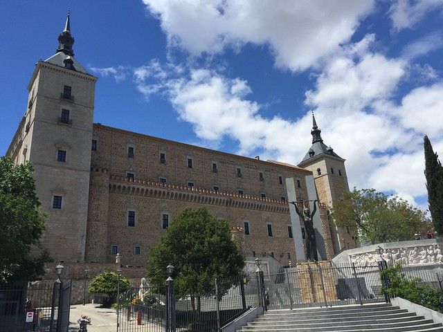 Things to see in Toledo: the Alcazar, with two of the four corner towers