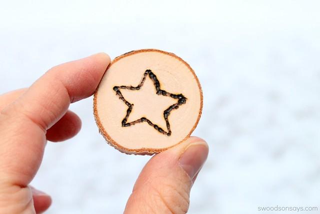 Woodburned Star