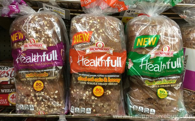 Brownberry Healthfull Bread (Nuts & Seeds, Steel Cut Oats & Honey, and Flax & Sunflower)