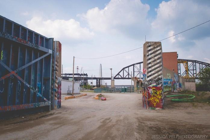 St. Louis Graffiti Wall Riverfront Gateway Arch