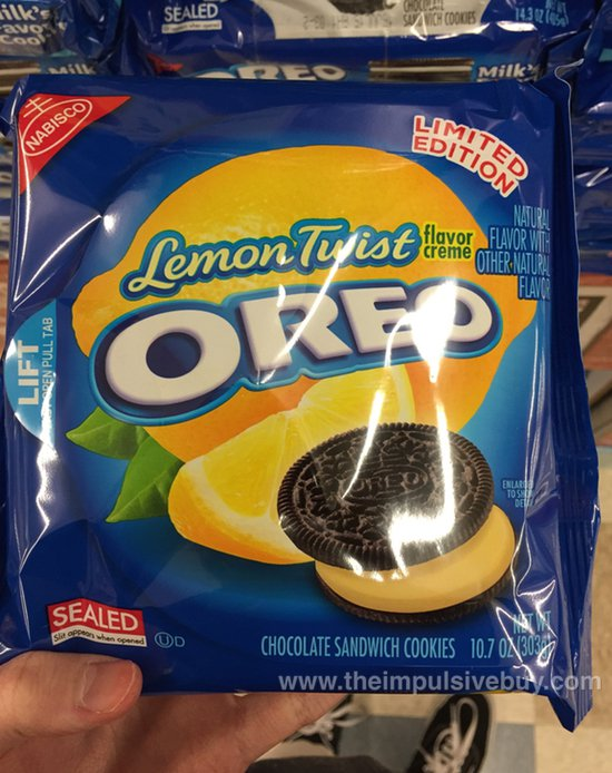 Nabisco Limited Edition Lemon Twist Chocolate Oreo Cookies