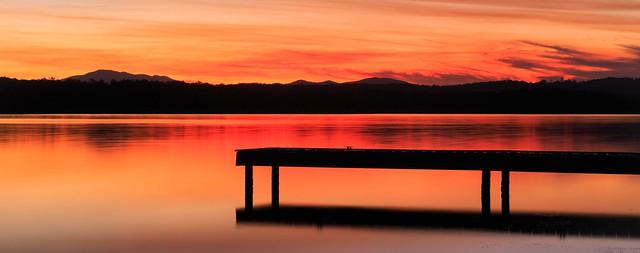 Winter evening sunset, Wallaga Lake